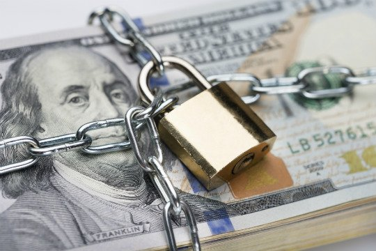 Photo of Money with Chain & Lock