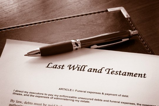 Photo of a Will & Testament Document